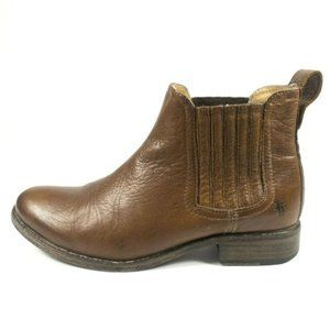 Frye Jamie Brown Leather Chelsea Ankle Boots